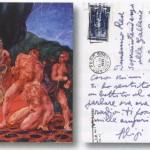 Cartolina illustrata di Aligi Sassu