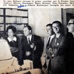 Alberto Mondadori, Maria Bellonci, Nino Palumbo, Michele Prisco, Domenico Rea e Alberto Bevilacqua per il Premio Strega a casa Bellonci
